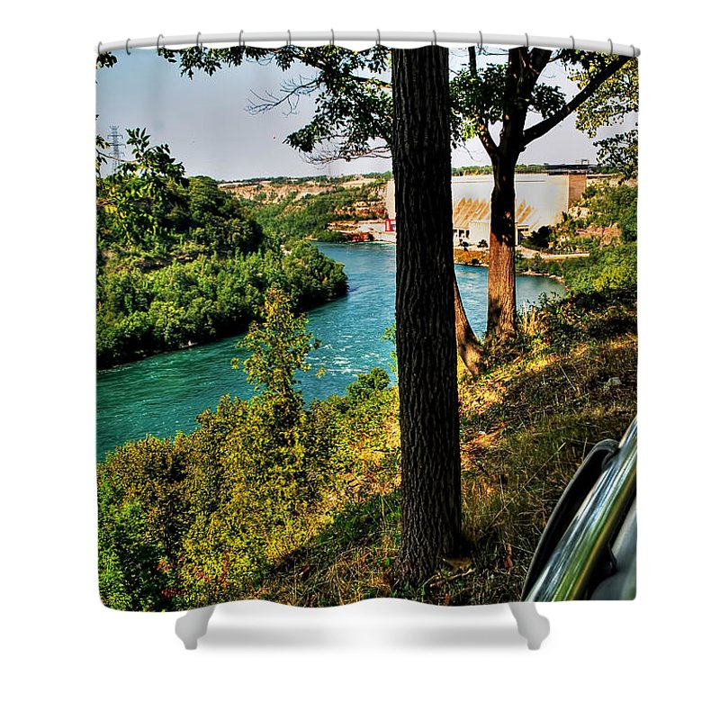 Shower Curtain featuring the photograph 001 Niagara Gorge Trail Series by Michael Frank Jr
