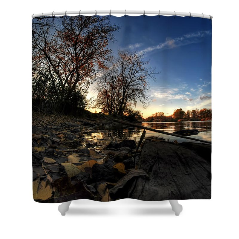 Shower Curtain featuring the photograph 008 Autumn At Tifft Nature Preserve Series by Michael Frank Jr