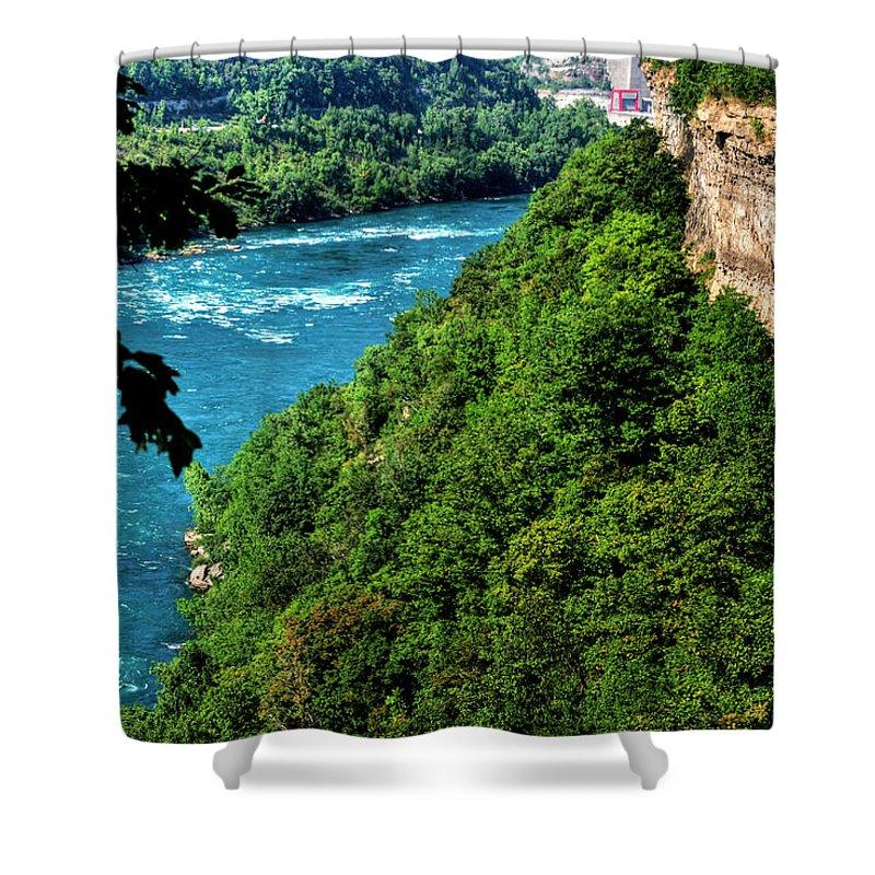 Shower Curtain featuring the photograph 014 Niagara Gorge Trail Series by Michael Frank Jr