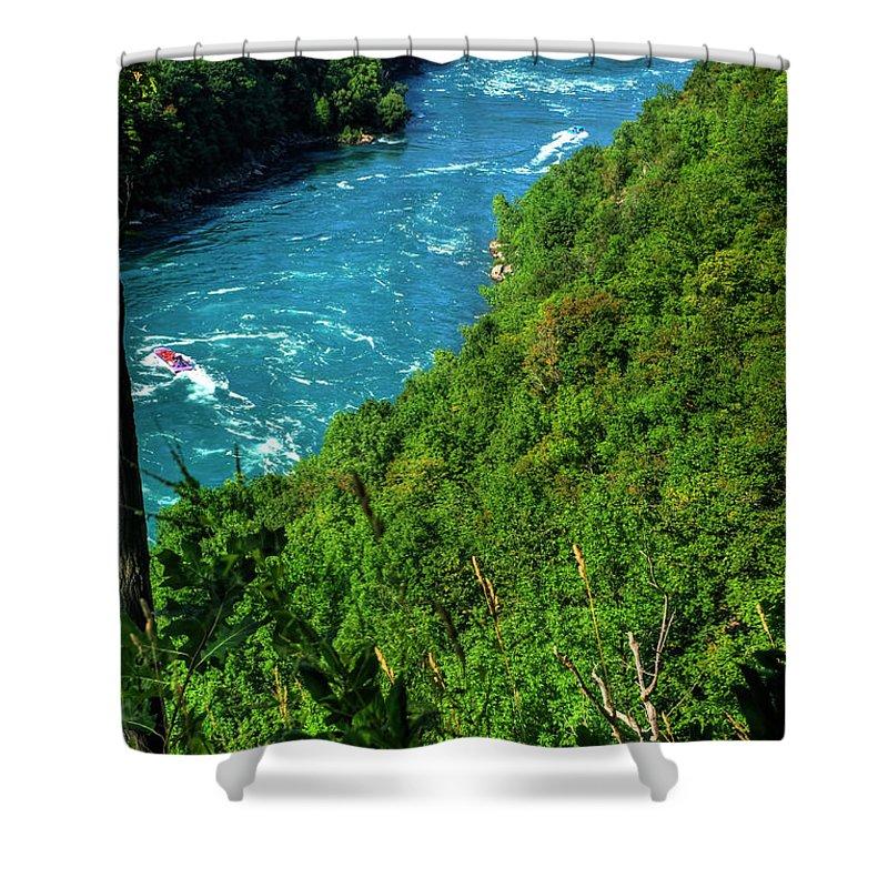 Shower Curtain featuring the photograph 017 Niagara Gorge Trail Series by Michael Frank Jr