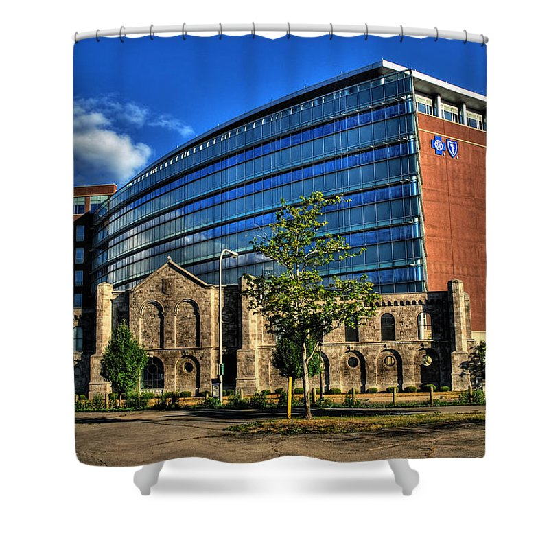 Shower Curtain featuring the photograph 017 Wakening Architectural Dynamics by Michael Frank Jr