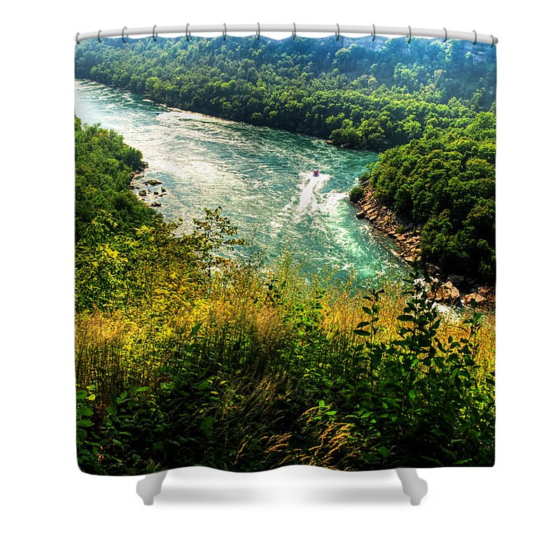 Shower Curtain featuring the photograph 019 Niagara Gorge Trail Series by Michael Frank Jr