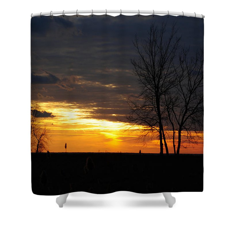 Shower Curtain featuring the photograph 02 Sunset by Michael Frank Jr