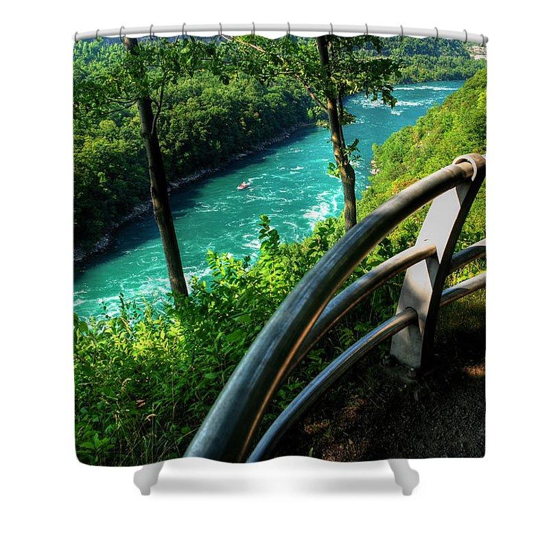 Shower Curtain featuring the photograph 021 Niagara Gorge Trail Series by Michael Frank Jr