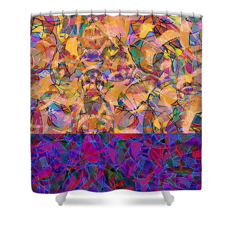 Abstract Shower Curtain featuring the digital art 0672 Abstract Thought by Chowdary V Arikatla