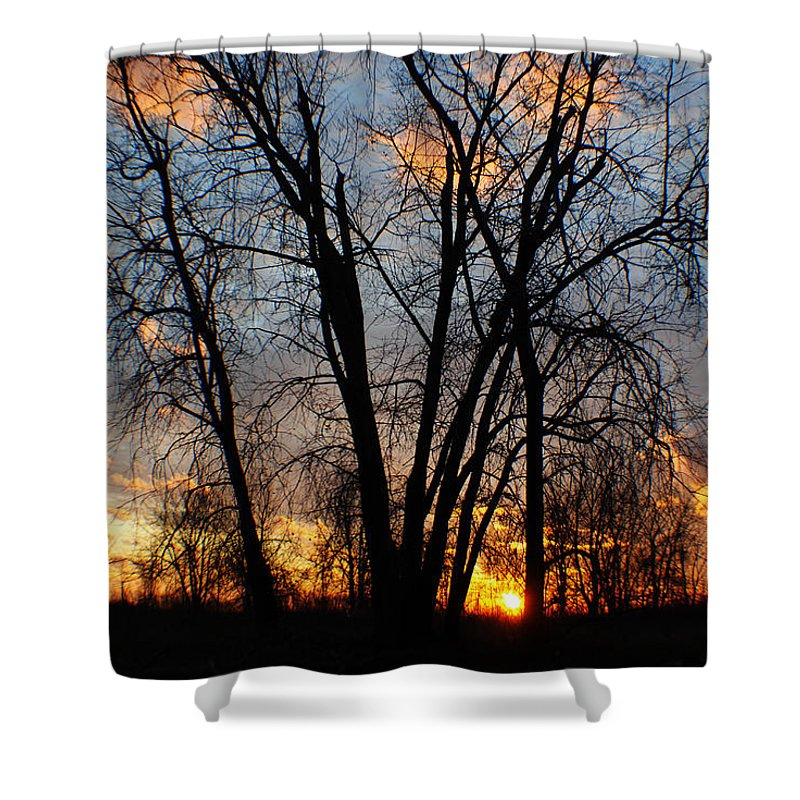 Shower Curtain featuring the photograph 07 Sunset by Michael Frank Jr