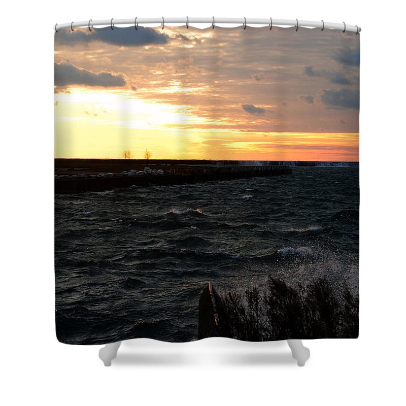 Shower Curtain featuring the photograph 08 Sunset by Michael Frank Jr