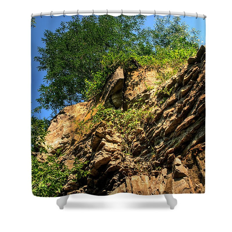 Shower Curtain featuring the photograph 023 Niagara Gorge Trail Series by Michael Frank Jr