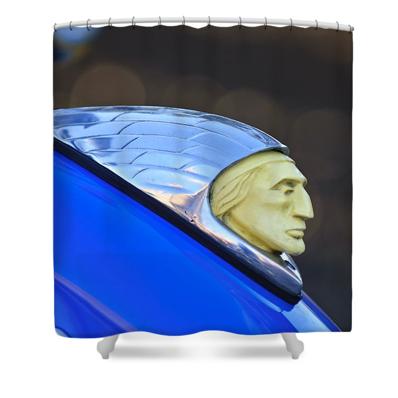 1948 Indian Chief Motorcycle Shower Curtain featuring the photograph 1948 Indian Chief Motorcycle by Jill Reger