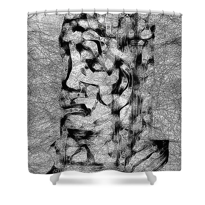 Graphics Shower Curtain featuring the digital art Abs 0426 by Marek Lutek