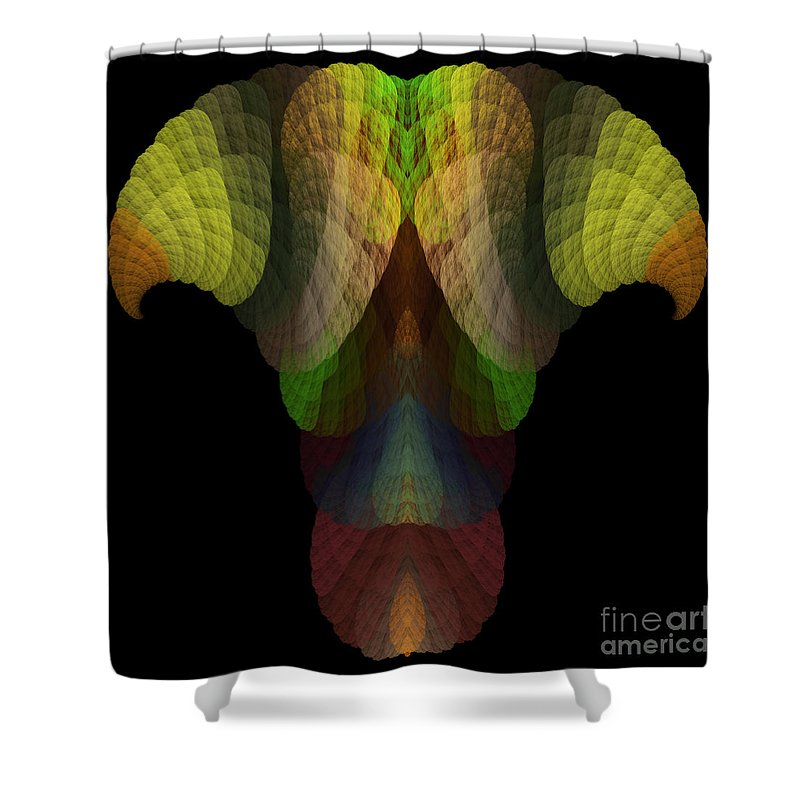 Fractal Digital Art Shower Curtain featuring the photograph Abstract 203 by Mike Nellums