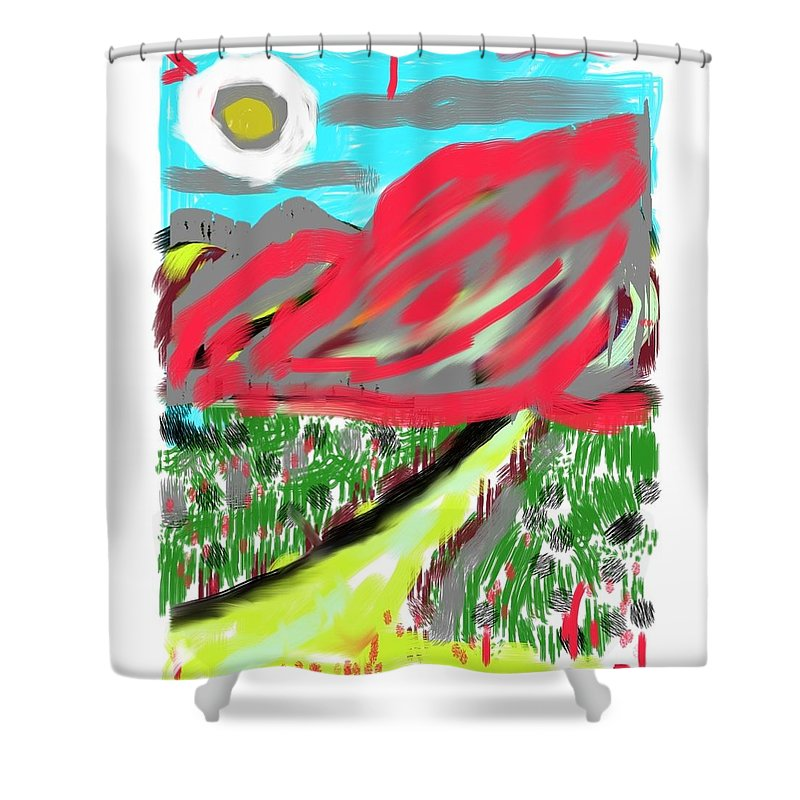 Abstract Shower Curtain featuring the digital art Abstract by Roger Cummiskey