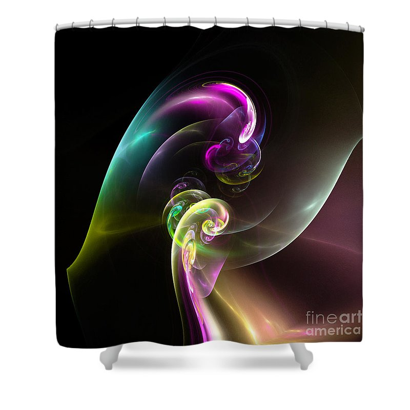 Fractal Digital Art Shower Curtain featuring the photograph Abstract Seventy by Mike Nellums