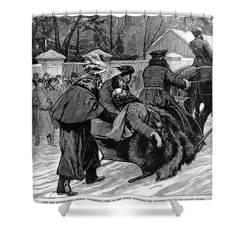 1881 Shower Curtain featuring the photograph Alexander II (1818-1881) by Granger