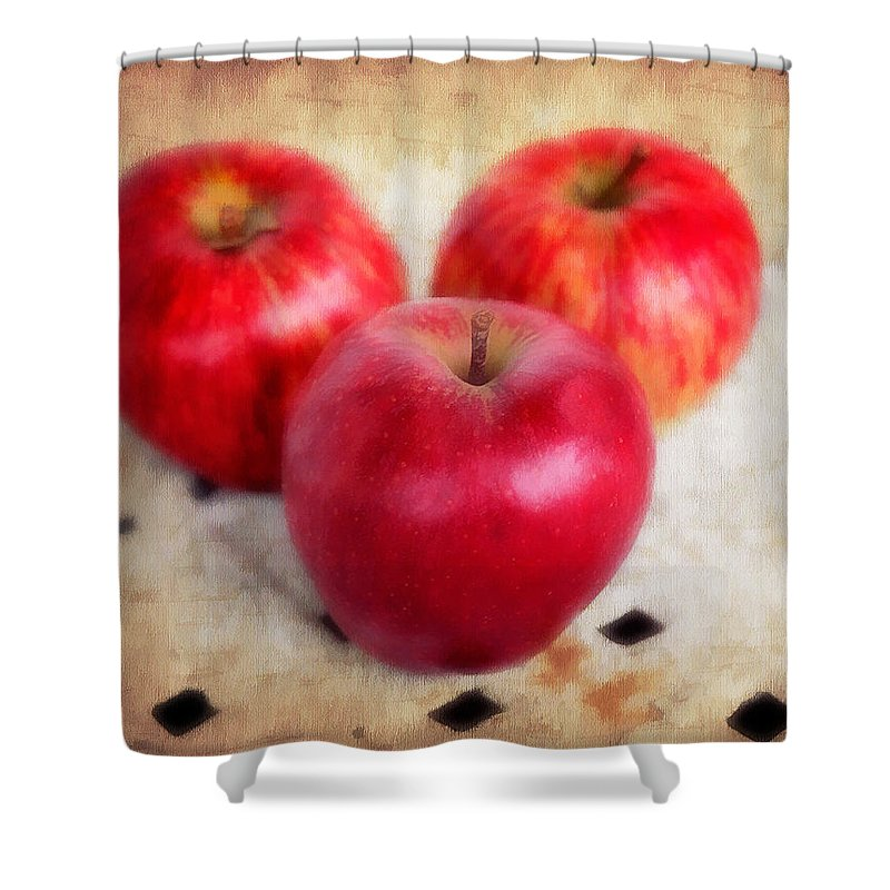 Appetizing Shower Curtain featuring the photograph Apples by Darren Fisher