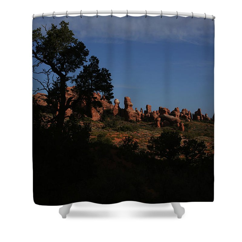 Arches Shower Curtain featuring the photograph Arches National Park by Benjamin Dahl