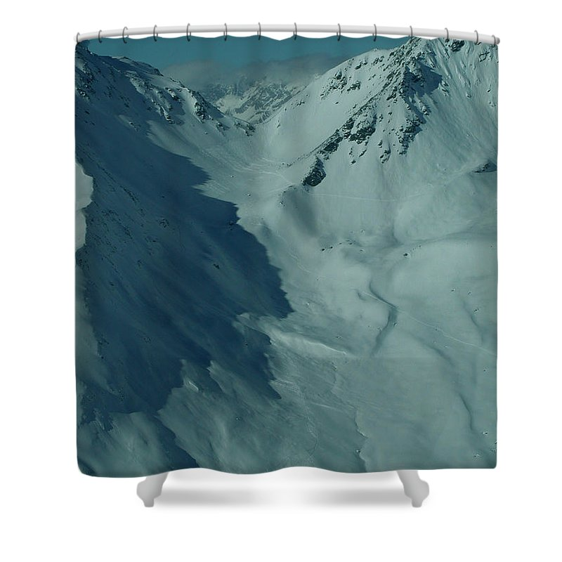 Colette Shower Curtain featuring the photograph Austria Mountain by Colette V Hera Guggenheim
