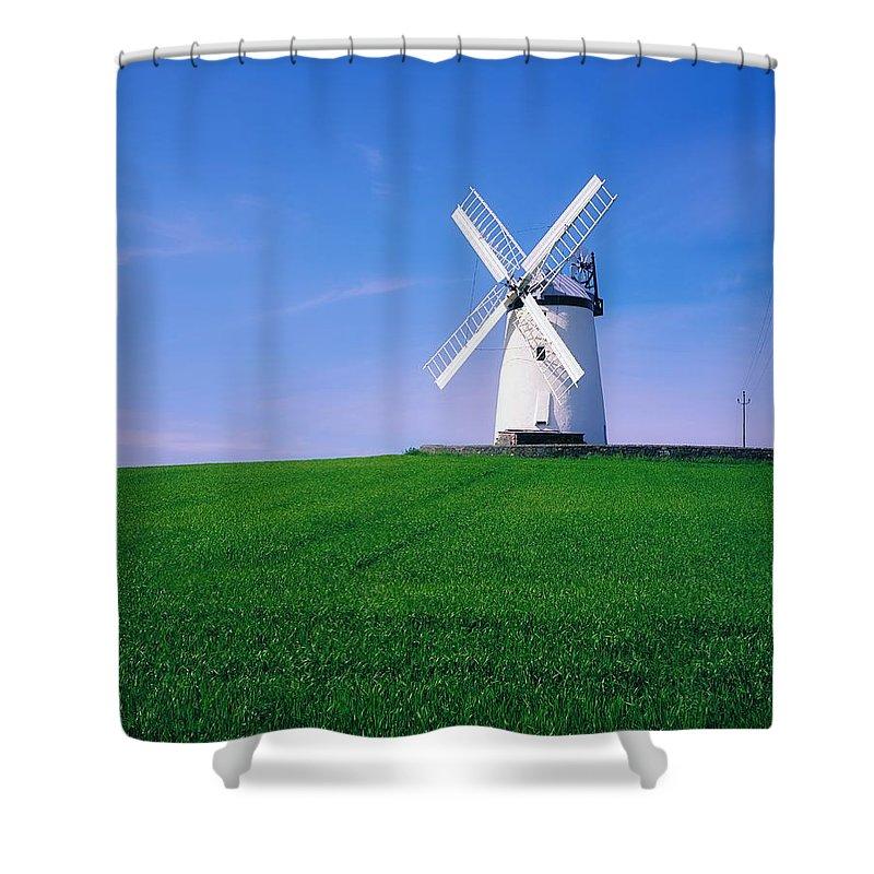 Ballycopeland Shower Curtain featuring the photograph Ballycopeland Windmill, Millisle by The Irish Image Collection