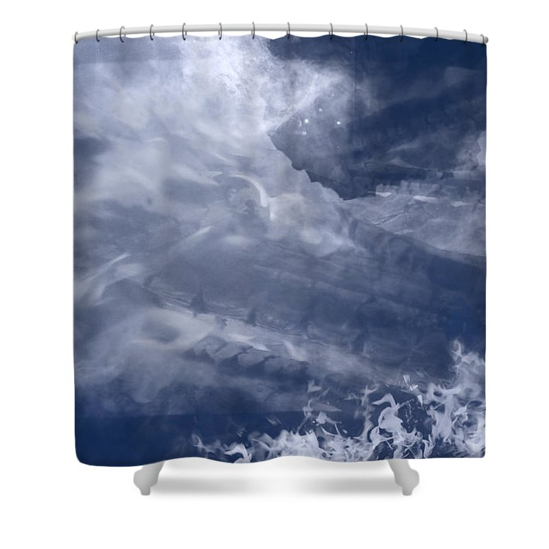 Birth Shower Curtain featuring the painting Birth Of A Dream by Christopher Gaston
