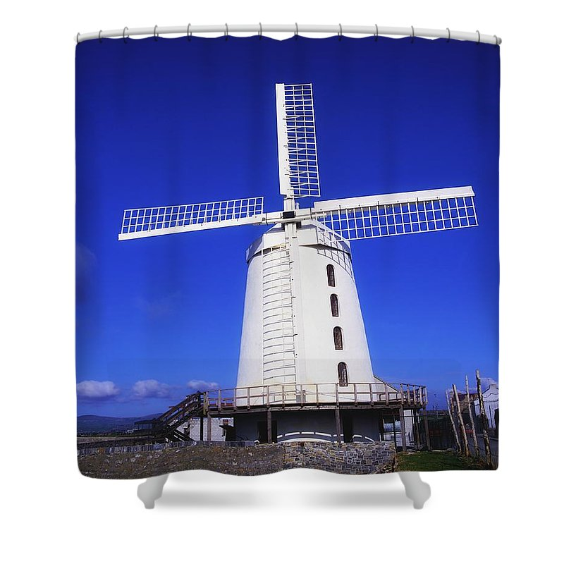 Blennerville Shower Curtain featuring the photograph Blennerville Windmill, Tralee, Co by The Irish Image Collection
