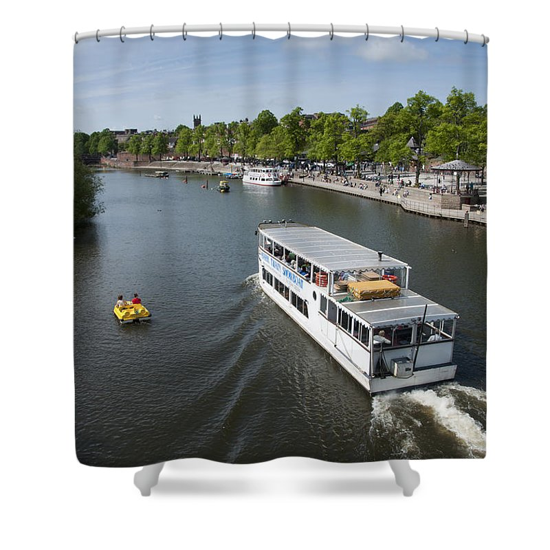 2011 Shower Curtain featuring the photograph Boats On River Dee by Andrew Michael