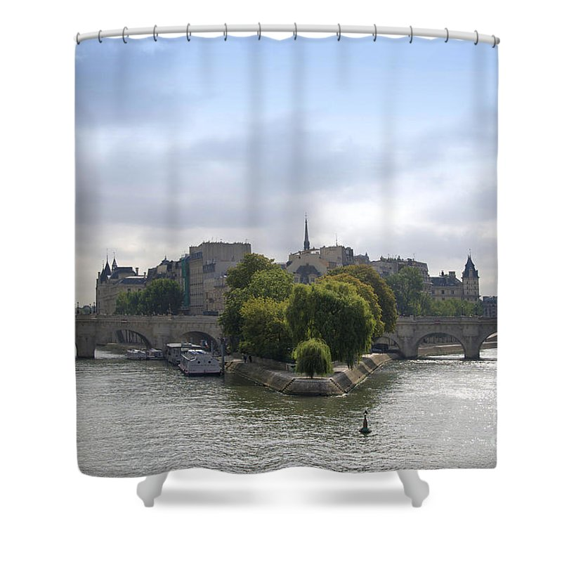 Paris Shower Curtain featuring the photograph Bridges On River Seine. Paris. France by Bernard Jaubert