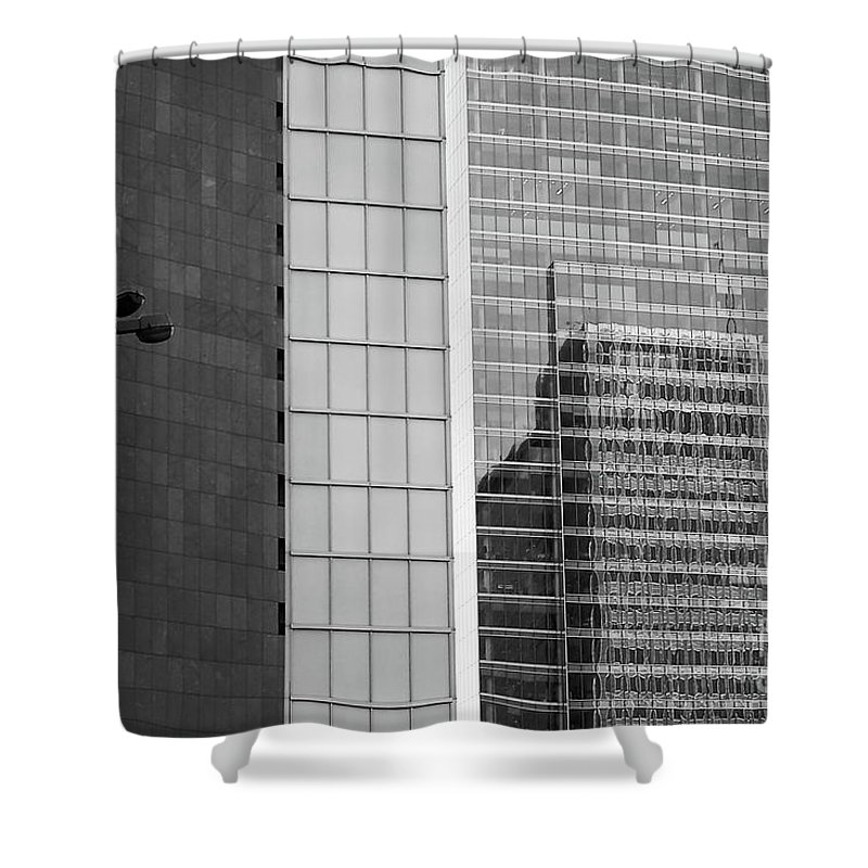 Cityscape Shower Curtain featuring the photograph Business Center by Dariusz Gudowicz
