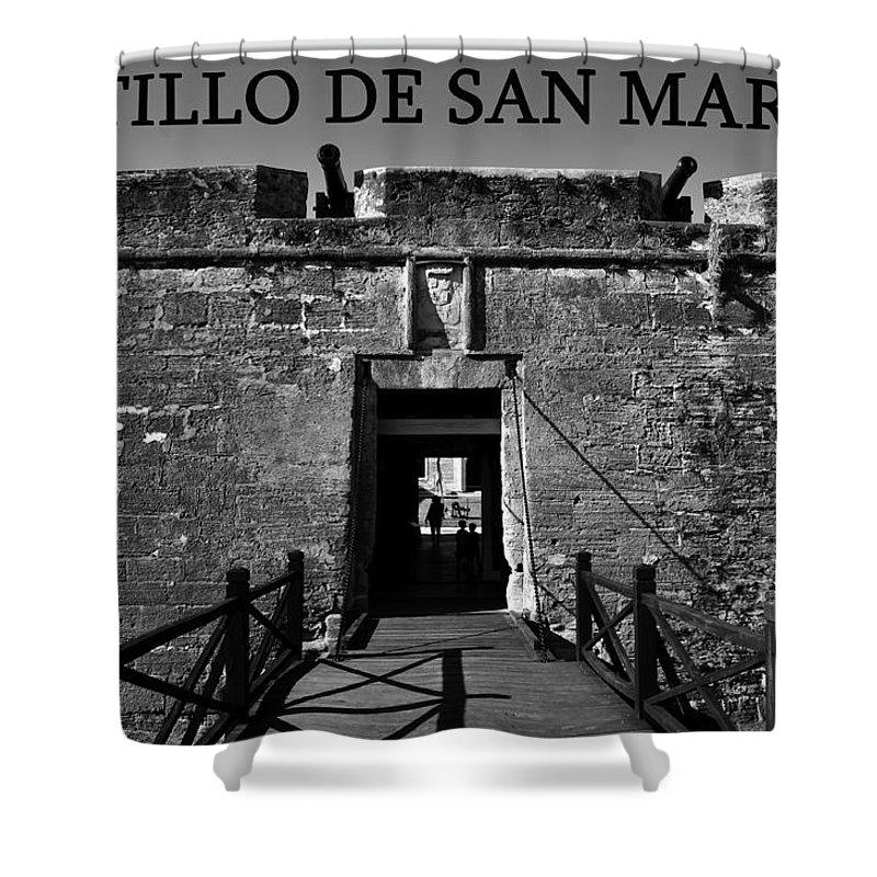 Fine Art Photography Shower Curtain featuring the photograph Castillo De San Marcos by David Lee Thompson