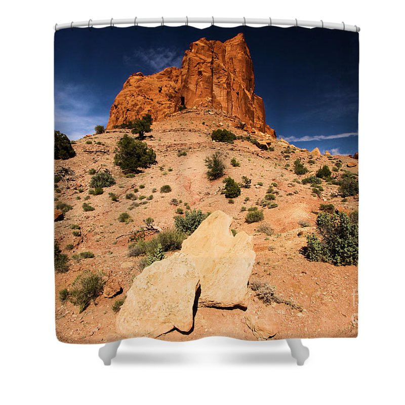 Capitol Reef National Park Shower Curtain featuring the photograph Castle In The Sky by Adam Jewell