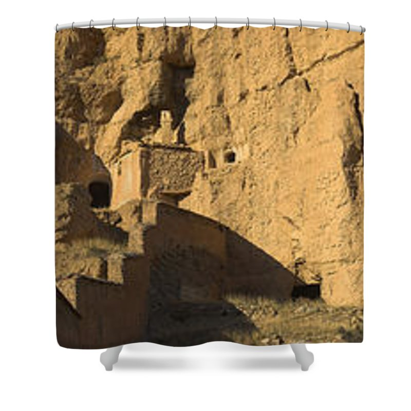 Shower Curtain featuring the photograph Cave Dwellings by Guido Montanes Castillo