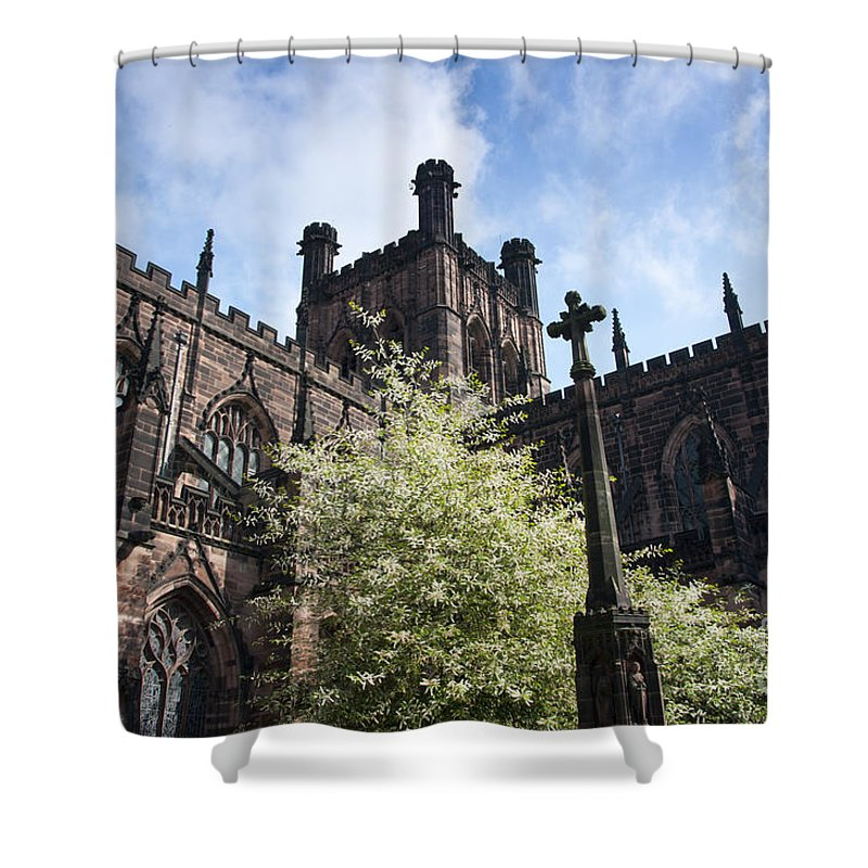 2011 Shower Curtain featuring the photograph Chester Cathedral by Andrew Michael