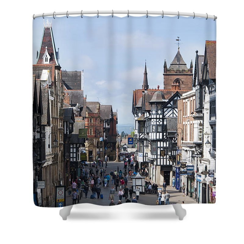 2011 Shower Curtain featuring the photograph Chester City Centre by Andrew Michael