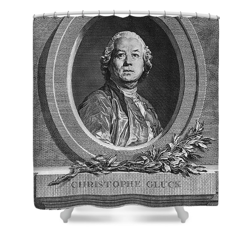 18th Century Shower Curtain featuring the photograph Christoph Willibald Gluck by Granger