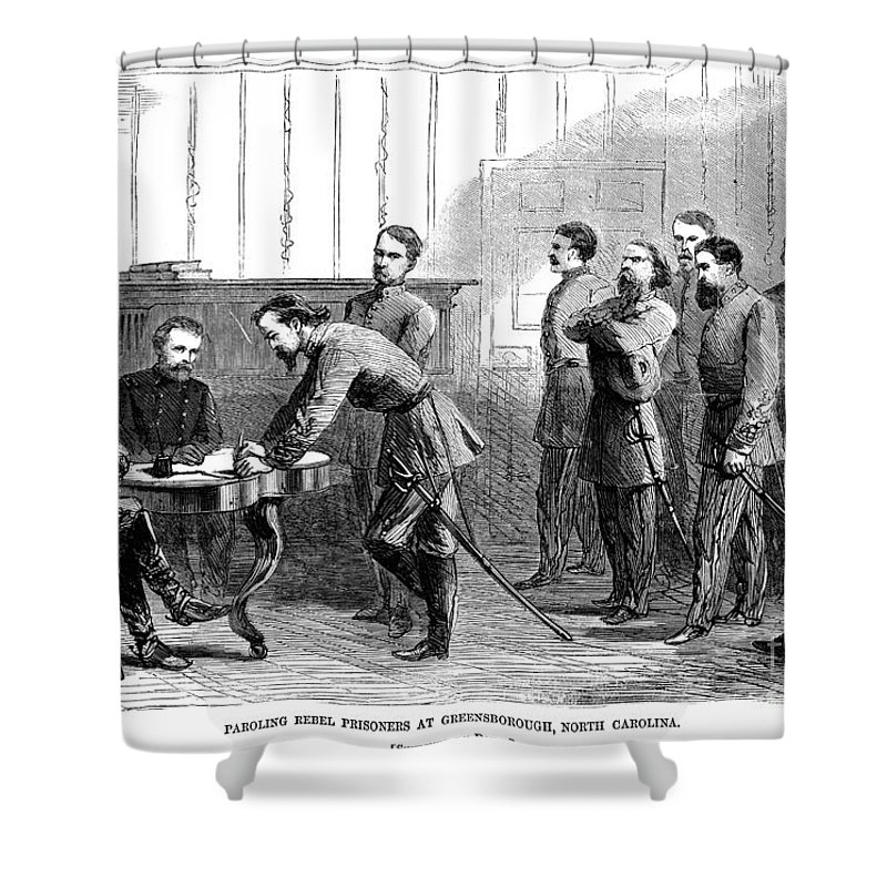 1865 Shower Curtain featuring the photograph Civil War: Parole, 1865 by Granger