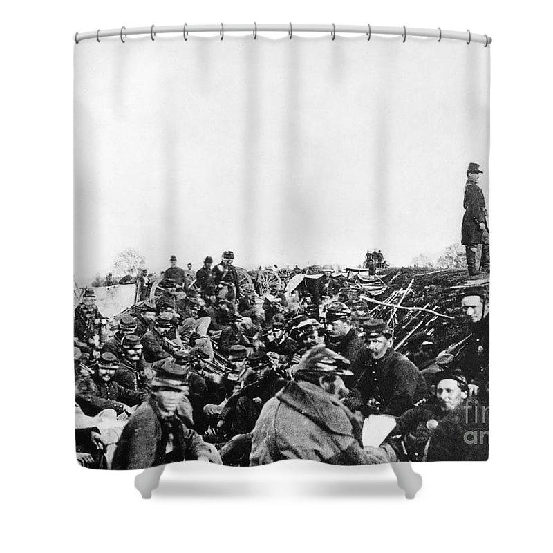 1864 Shower Curtain featuring the photograph Civil War: Petersburg, 1864 by Granger
