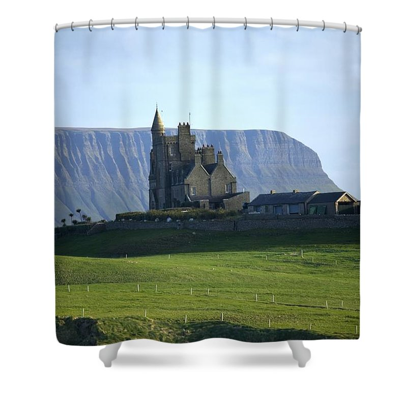 Outdoors Shower Curtain featuring the photograph Classiebawn Castle, Mullaghmore, Co by Gareth McCormack