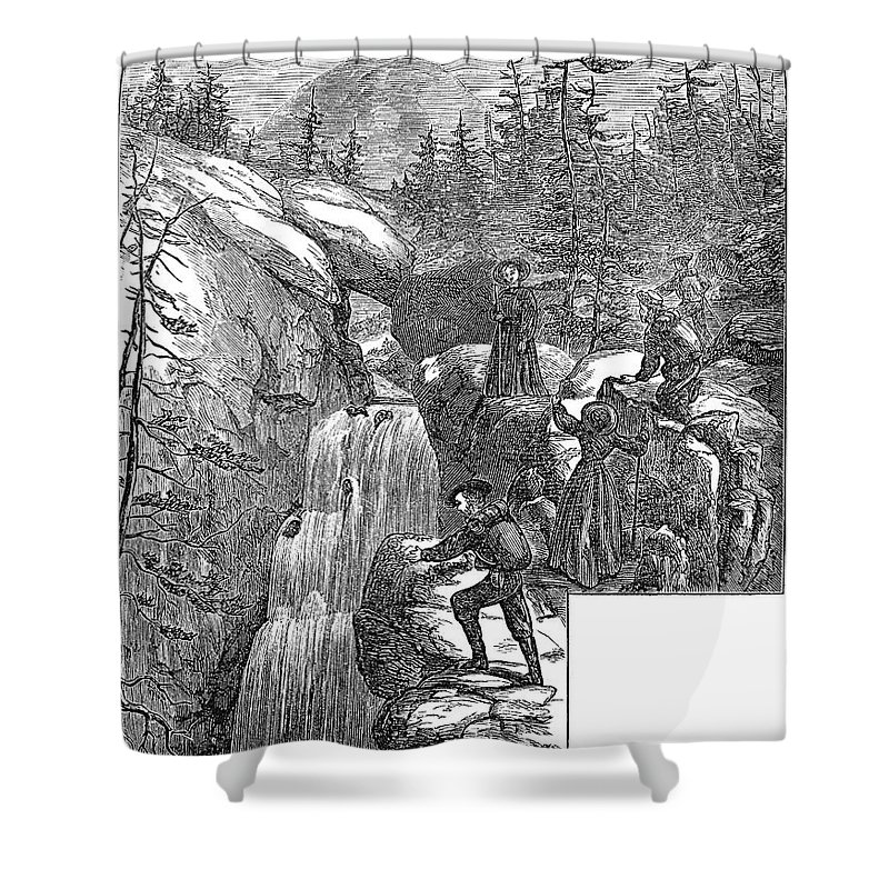 1867 Shower Curtain featuring the photograph Colorado: Pikes Peak, 1867 by Granger