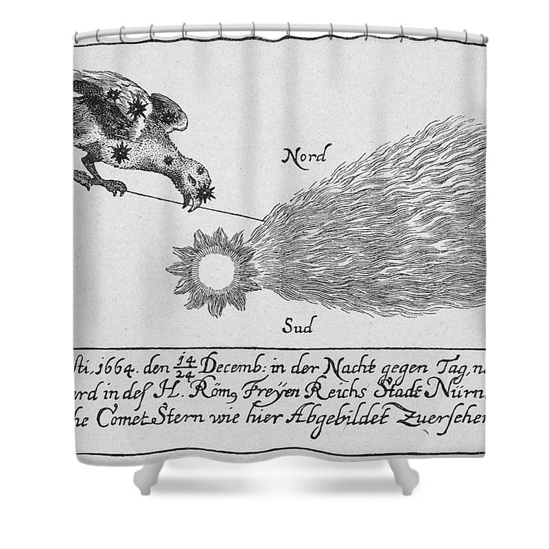 1664 Shower Curtain featuring the photograph Comet, 1664 by Granger
