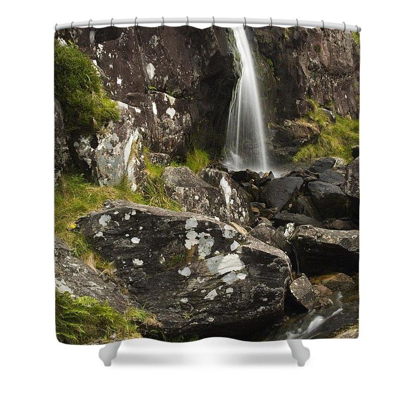 Dingle Peninsula Shower Curtain featuring the photograph Connor Pass, Dingle Peninsula, County by Richard Cummins