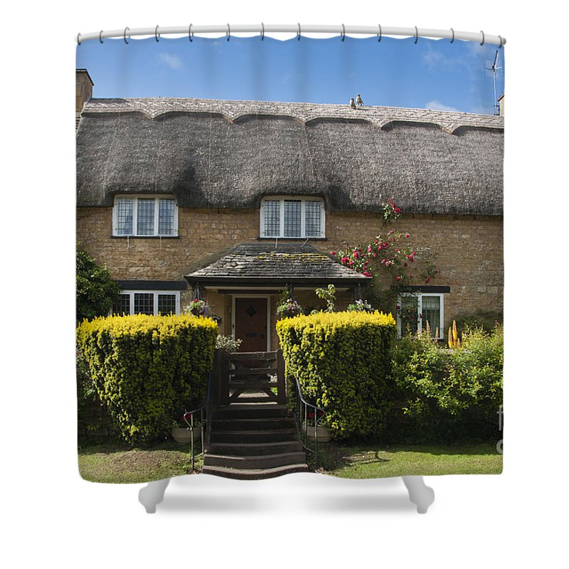 English Shower Curtain featuring the photograph Cottage by Andrew Michael