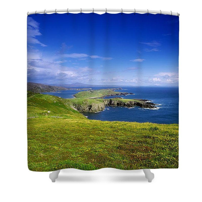 Co Cork Shower Curtain featuring the photograph Crookhaven, Co Cork, Ireland Most by The Irish Image Collection