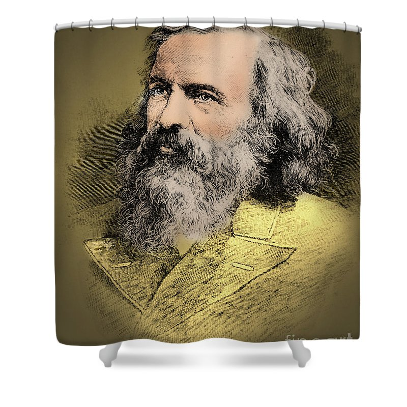 Science Shower Curtain featuring the photograph Dmitri Mendeleev, Russian Chemist by Science Source