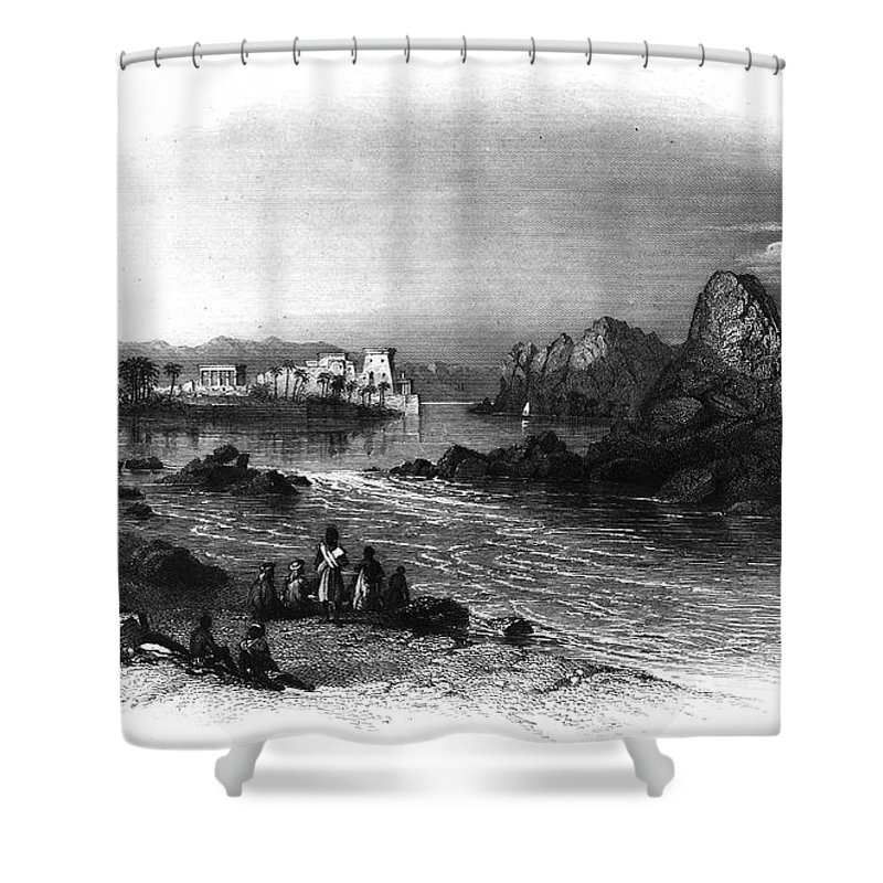 1849 Shower Curtain featuring the photograph Egypt: Island Of Philae by Granger
