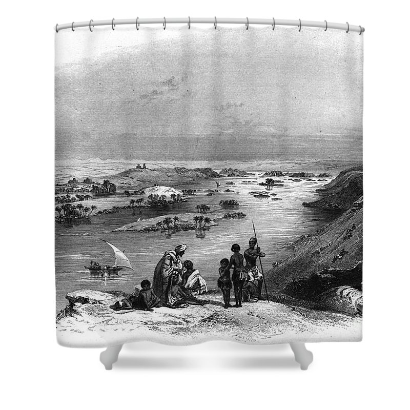 1849 Shower Curtain featuring the photograph Egypt: Nile Scene by Granger