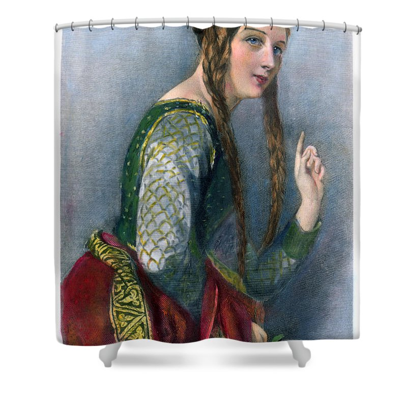12th Century Shower Curtain featuring the photograph Eleanor Of Aquitaine by Granger