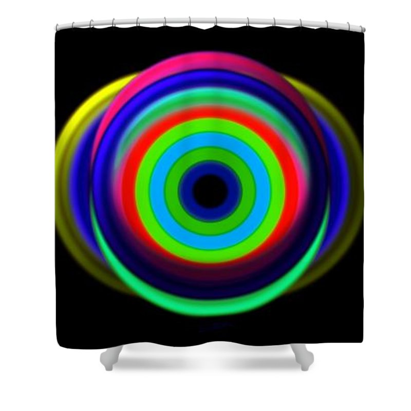 Eye Shower Curtain featuring the painting Eye Of The Storm by Charles Stuart