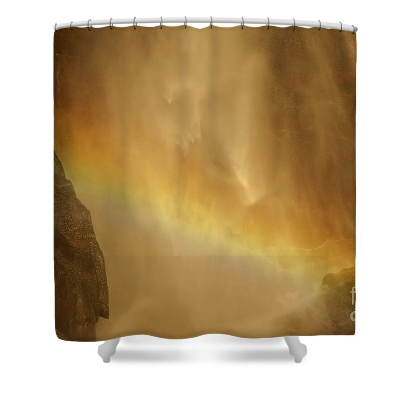 Yosemite National Park Shower Curtain featuring the photograph Face In The Rainbow by Adam Jewell
