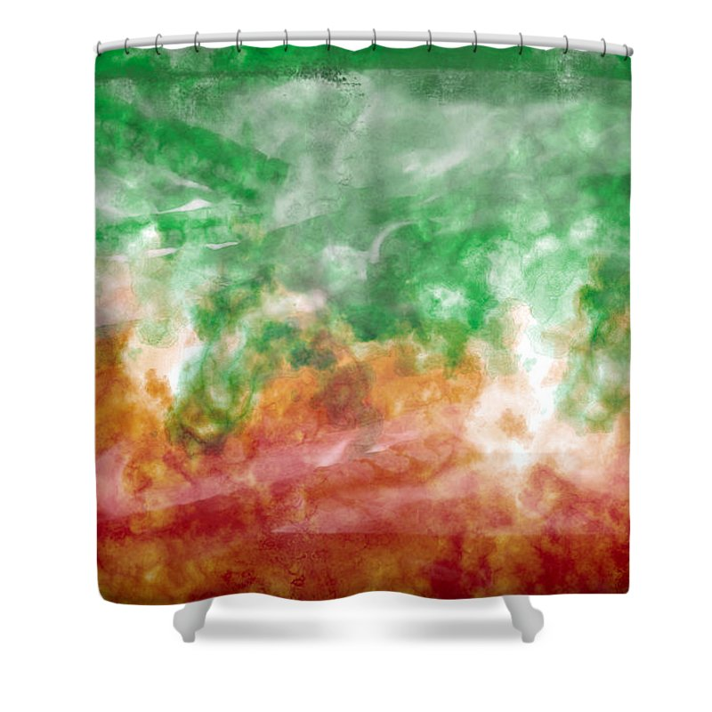 Fire Shower Curtain featuring the painting Fire Dance by Christopher Gaston