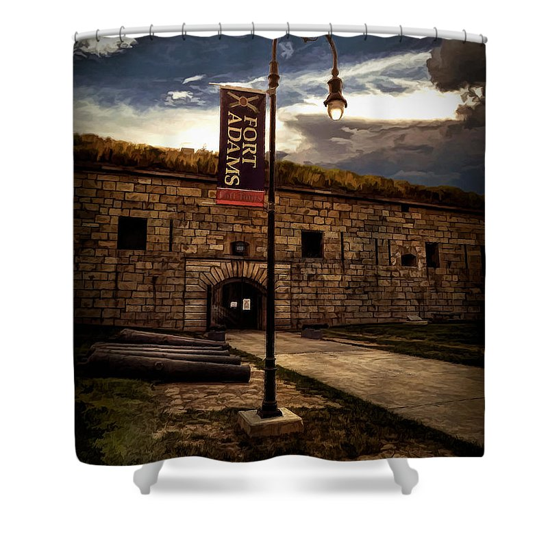 Fort Adams State Park Shower Curtain featuring the photograph Fort Adams State Park by Lourry Legarde