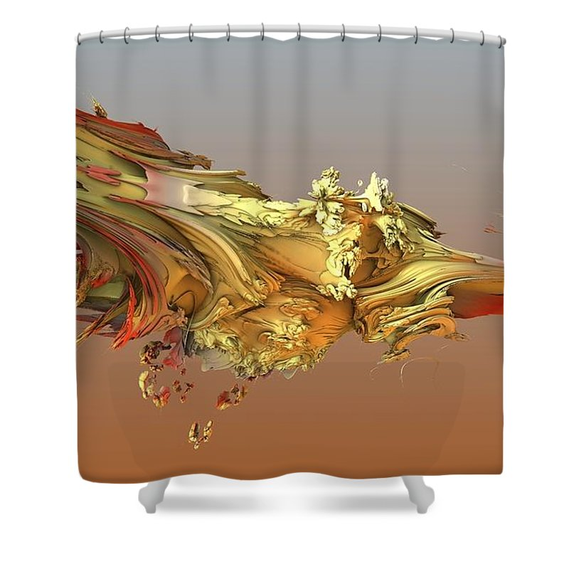 Fractal Shower Curtain featuring the digital art Fractal Life by Ron Bissett